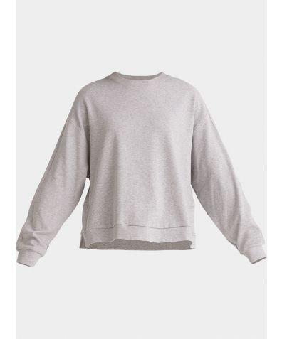 Cotton Crew Neck Sweatshirt - Light Grey