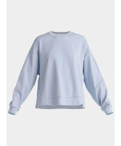 Cotton Crew Neck Sweatshirt - Light Blue