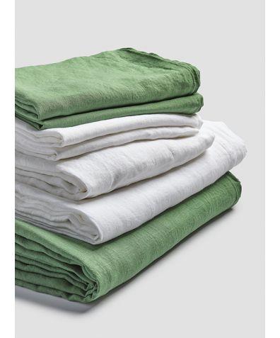 Linen Bedtime Bundle - Forest Green