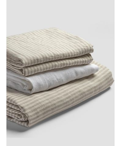 Linen Basic Bundle - Oatmeal Stripe