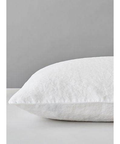 Organic Linen Pillowcase - White
