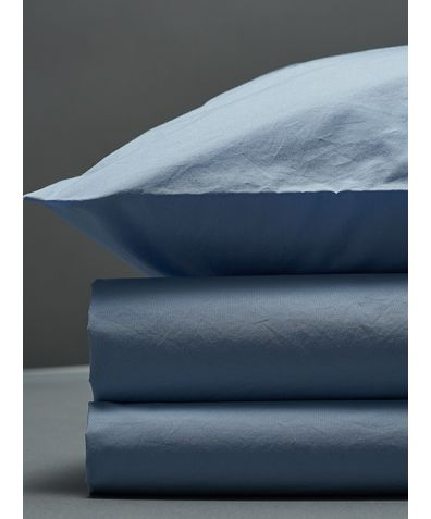 300 Thread Count Egyptian Cotton Percale Duvet Set - Light Blue