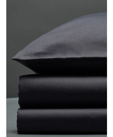 300 Thread Count Egyptian Cotton Sateen Duvet Set - Dark Grey