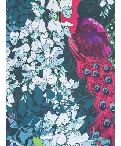 Peacock Maximalist Wallpaper