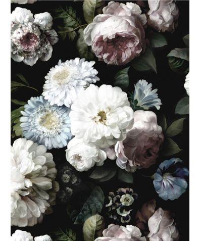 Dark Floral Mural Wallpaper