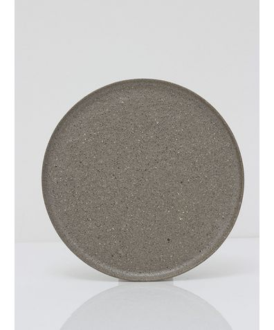 Artisan Ceramic Plate - Warm Grey