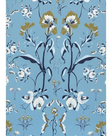 Botanical Delphine Wallpaper