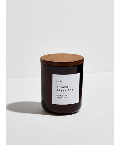 Soy Wax Candle - Ginger + Green Tea, 300ml