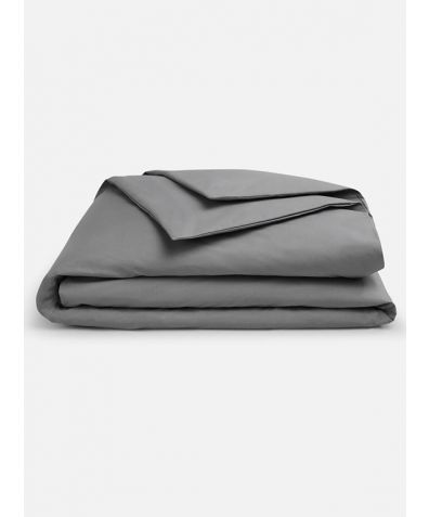 Lux 500 Thread Count Duvet Set - Smoke Grey