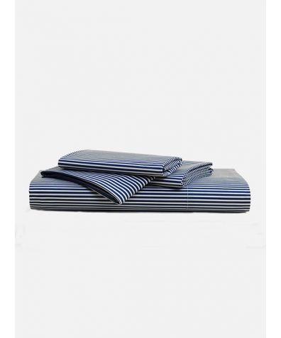 Lux 500 Thread Count Sheet Set - Blue Stripe