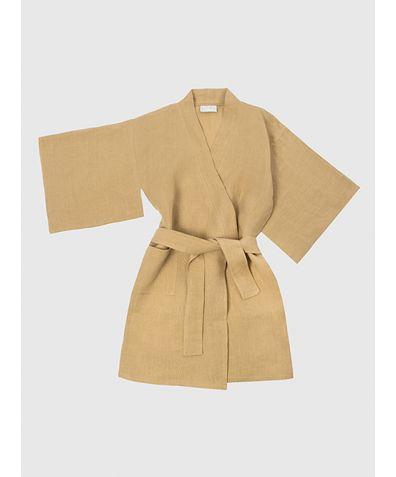Children's Linen Kimono - Amber
