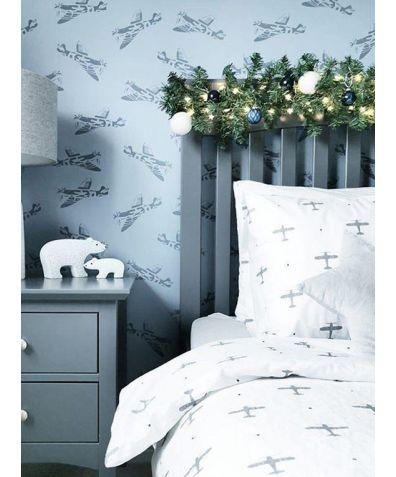 Cotton Bed Set - Planes