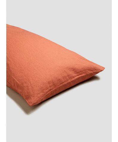 Linen Pillowcases (Pair) - Terracotta