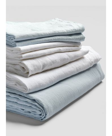 Linen Bedtime Bundle - Lake Blue