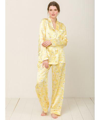 Elisabetha Shanghai Garden Silk Pyjama Trouser - Set/Separate