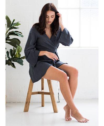 Bella Robe - Stone Grey