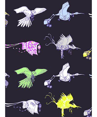 Flying Journey Non Woven Wallpaper - Navy