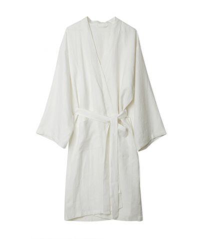 Linen Robe - White