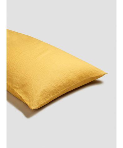 Linen Pillowcases (Pair) - Yellow