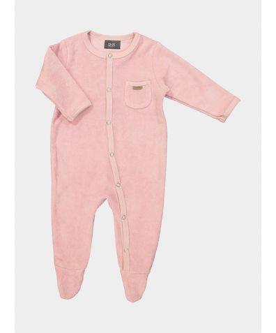 Organic Cotton Children's Cuddle Pyjamas - Pink