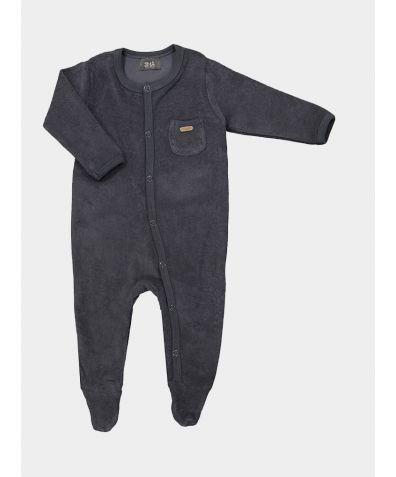 Organic Cotton Children's Cuddle Pyjamas - Grey