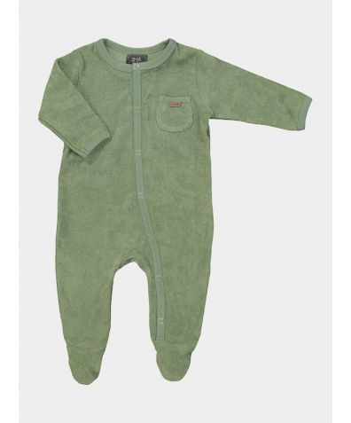 Organic Cotton Children's Cuddle Pyjamas - Green
