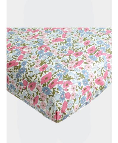 Liberty Print Fitted Sheet - Poppy & Daisy Rose