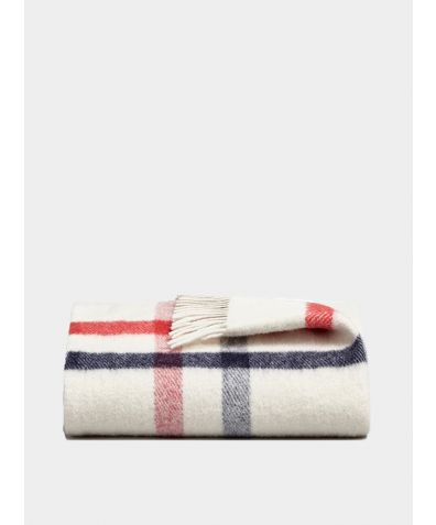 Danan Wool Blanket - Sky & Rose