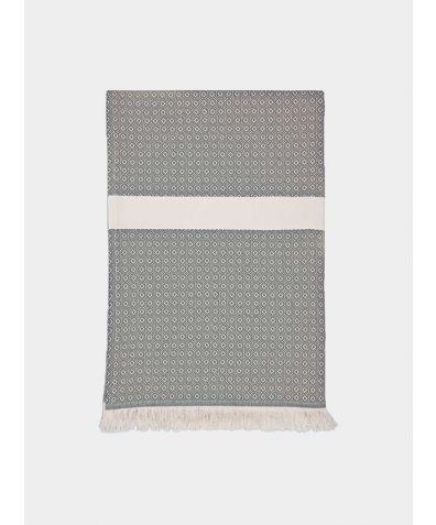 Henham Cotton Bed Throw - Dove Grey