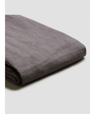 Natural French Flax Linen Duvet Cover - Charcoal