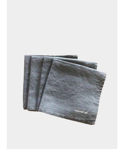 Linen Square Napkin (Set of 4) - Dark Grey