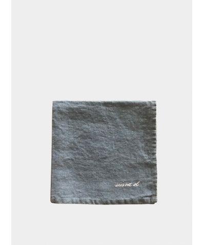 Linen Square Napkin - Dark Grey