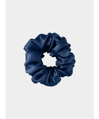 Silk Scrunchie - Deep Blue