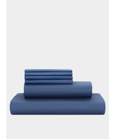 Deluxe 500 Thread Count Cotton Sateen Duvet Set - Libra Blue