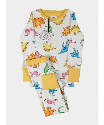 Children's Cotton Jersey Pyjama Trouser Set - Dino