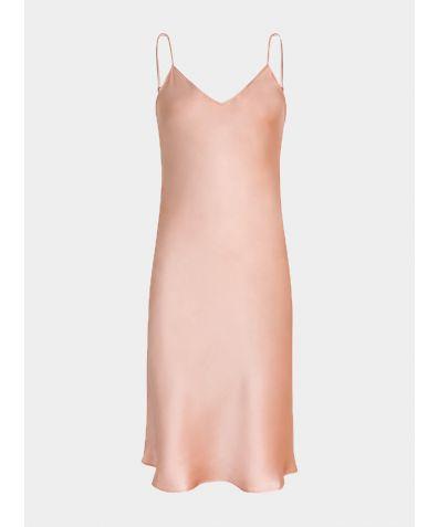 Dita Silk Nightdress - Pink