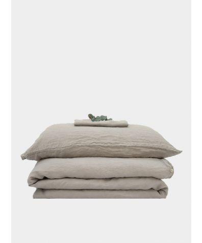Linen Bedding Set - Dove Grey