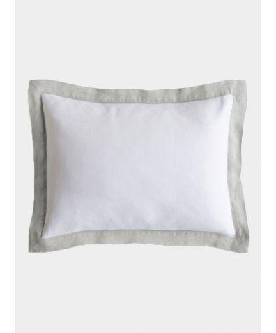 Linen Breakfast Pillow - Dove Grey