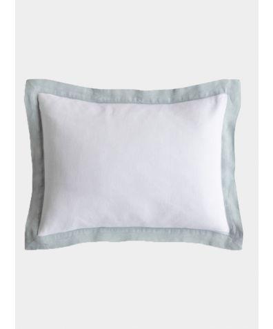 Linen Breakfast Pillow - Duck Egg