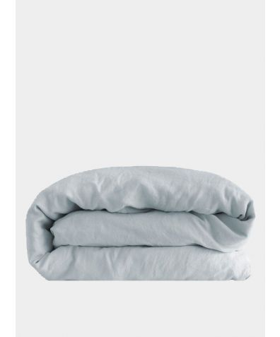 Linen Duvet Cover - Moustier Duck Egg