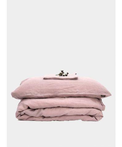 Linen Bedding Set - Blush Pink