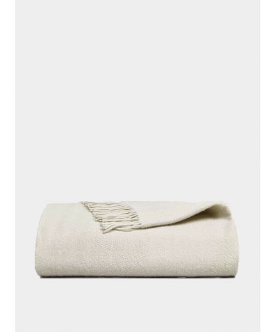Esho Merino Wool Blanket - Natural