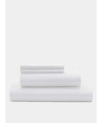 Essential 500 Thread Count Cotton Sateen Duvet Set - White