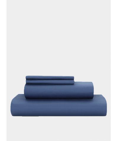 Essential 500 Thread Count Cotton Sateen Duvet Set - Libra Blue
