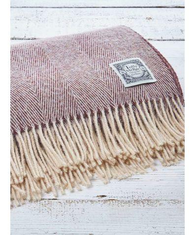 Wool Throw - Damson Gin