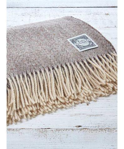 Wool Throw - Donkey Brown