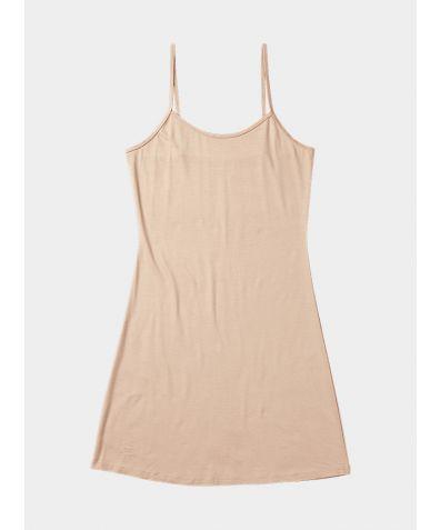 Everyday Bamboo Slip Dress - Almond