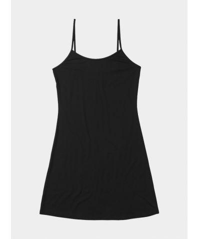 Everyday Bamboo Slip Dress - Black