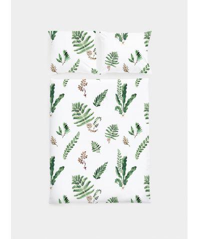 Cotton Sateen Duvet Set - Ferns