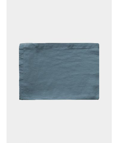 Linen Flat Sheet - Parisian Blue